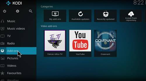 How to install covenant addon kodi step 8