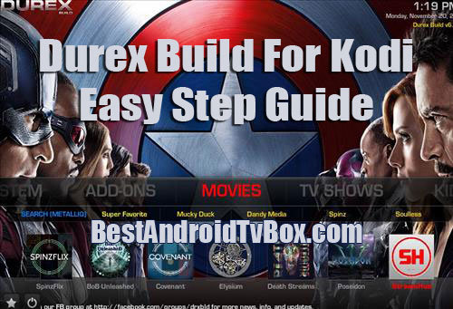 how to manually install durex build for kodi