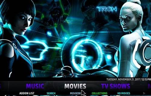 best kodi build tron screenshot