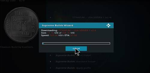 kodi titanium build step 27
