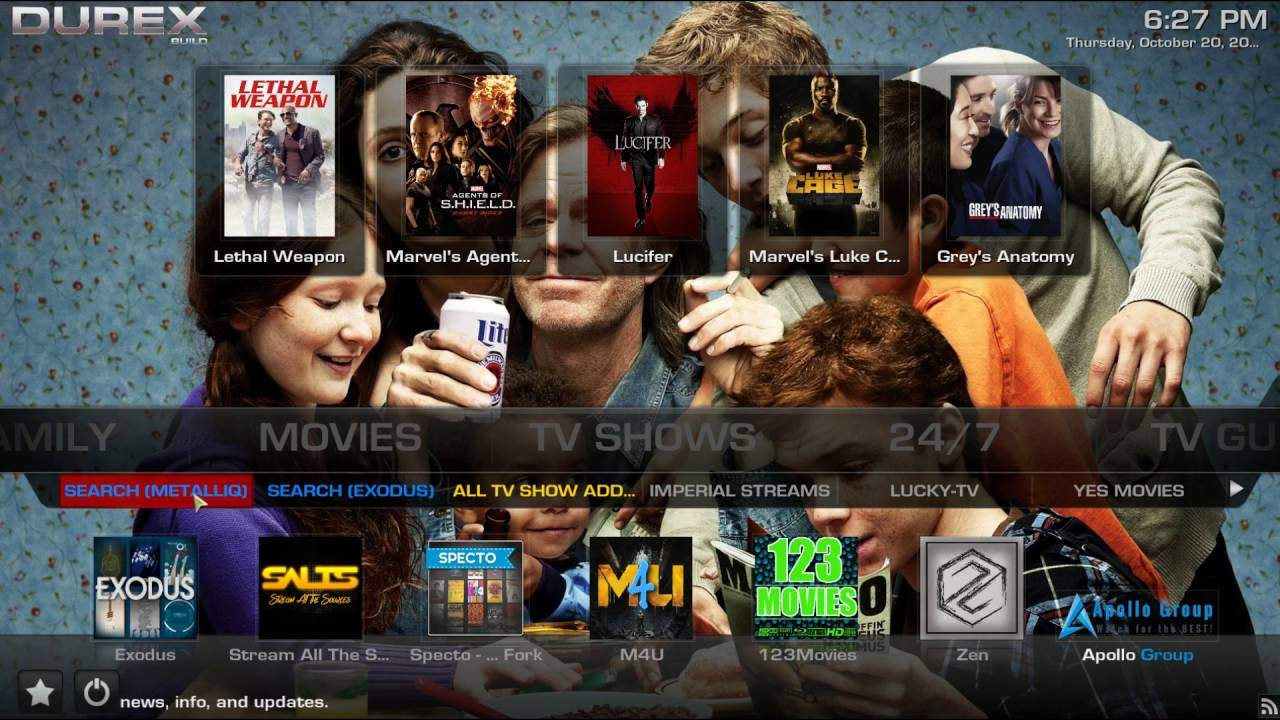 Durex Build for Kodi Install Guide - Updated April 2018 New