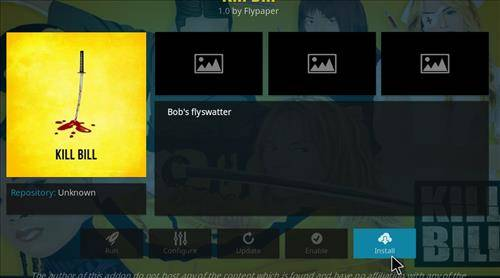 How to install kill bill kodi addon step 23