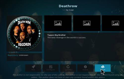 death row addon installation complete