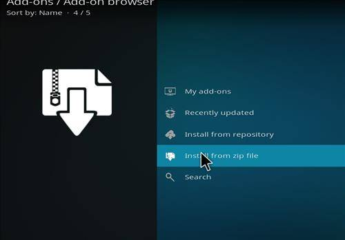 installing from zip file step10 of diggz aurora build kodi