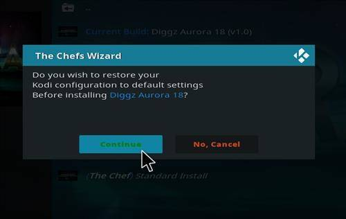 How to Install Diggz Aurora Build kodi 18 step 19