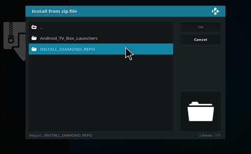 install diamond repo for TvOne Addon in Kodi