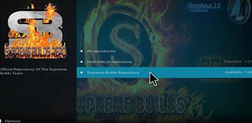 supreme build repository for x4 kodi build