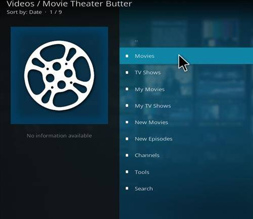 How to install movie theater butter addon on kodi second main logo