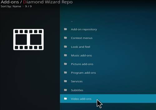 video addons option for step 17