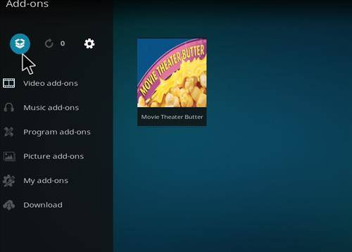 package installer for movie theater butter addon