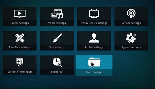 file manager settings step 2