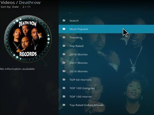 secondary image of death row kodi addon