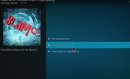 click on blamo repository for neptune rising in kodi 18
