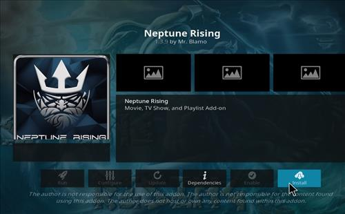 neptune rising addon on kodi 18 successfully installed