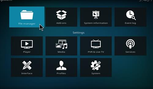 step 2 file manager in kodi