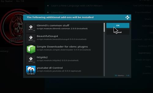 additional dependencies for supremacy addon on kodi